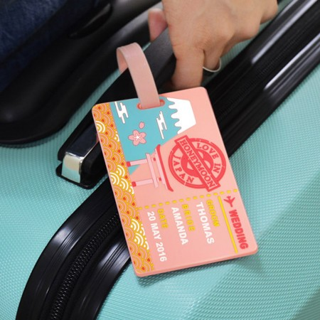 Honeymoon Travel Luggage Tags - Honeymoon Travel Luggage Tags