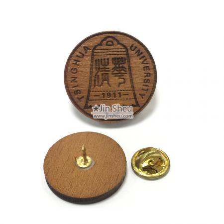 Wooden Lapel Pins - Laser Cut Wooden Lapel Pins