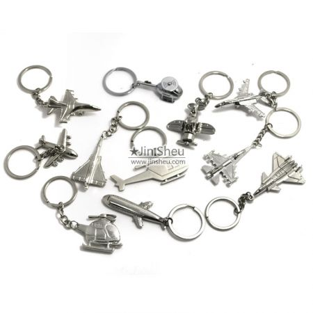 wholesale metal aircraft key chains