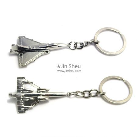 3D zinc alloy airplane keychains