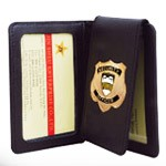 Leather Police Badge Wallets - Customized Design Metal Badge Wallet