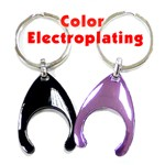 Trolley Coin Key Holders in Color Electroplating - Trolley Coin Key Holders in Color Electroplating