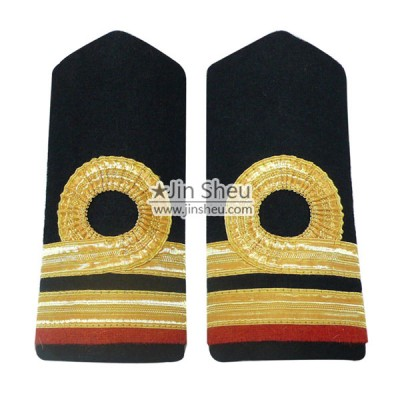 Shoulder Boards/ Epaulettes - We are professional in manufacturing all kinds of embroidered and woven epaulets.