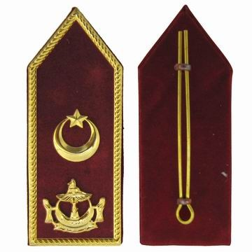 Shoulder Epaulettes with Metal Logo - Epaulettes with Metal Logo