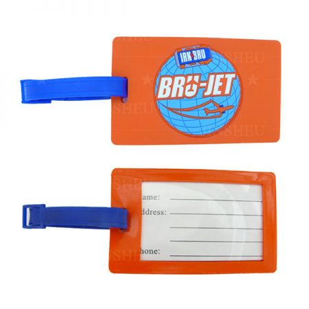 Soft PVC Luggage Tags - Customized Rubber PVC Luggage Tag