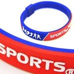 Embossed Silicone Wristbands - Silicone Bracelets with embossed color logo