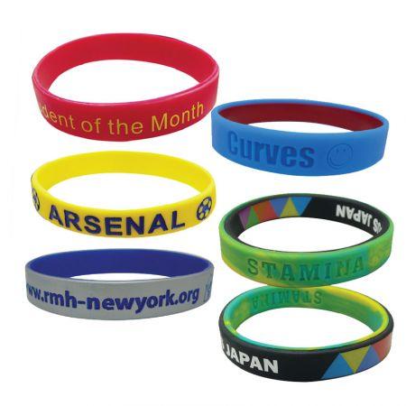 Silicone Bracelets - Promotional Silicone Bracelets with Custom Logo