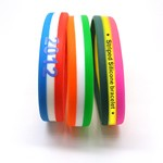 Striped Silicone Bracelets - Customized horizontal layered silicone wristband