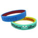 Two-Color Bracelets - double color silicone bracelets