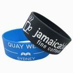 Wide Bracelets - Custom made silicone wide bracelet