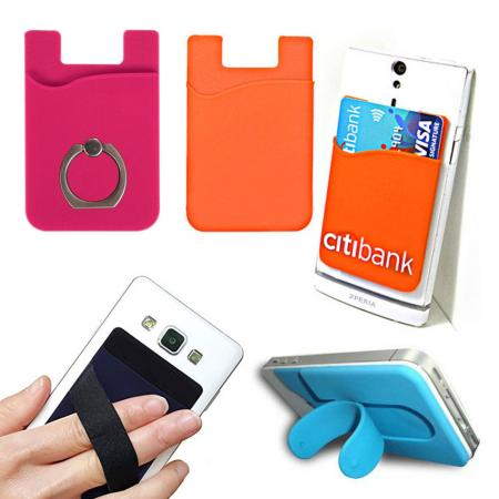 Mobile Adhesive Card Holder Wallets - Self-adhesive Phone Card Holder Wallet