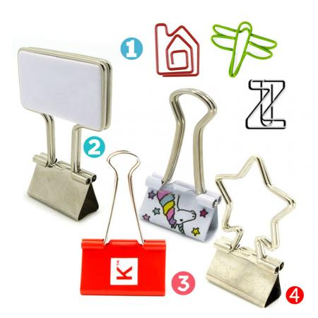 Metal Paper Clips/ Wire Paperclip / Foldback Clip - VARIOUS METAL PAPER CLIPS