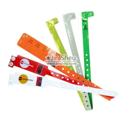 Disposable Vinyl PVC Bracelets - Promotional one time use PVC plastic wristbands