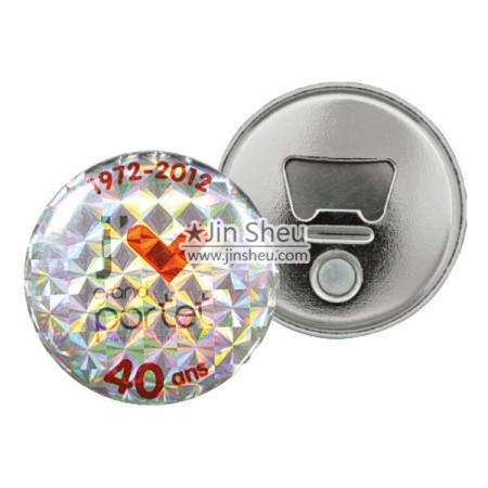 Button Badges with Bottle Openers - Cool Bottle Opener