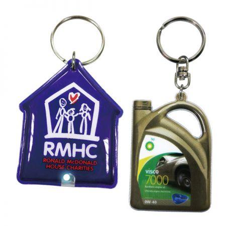 PVC Vinyl Keychains - Optional LED light of PVC vinyl keychains