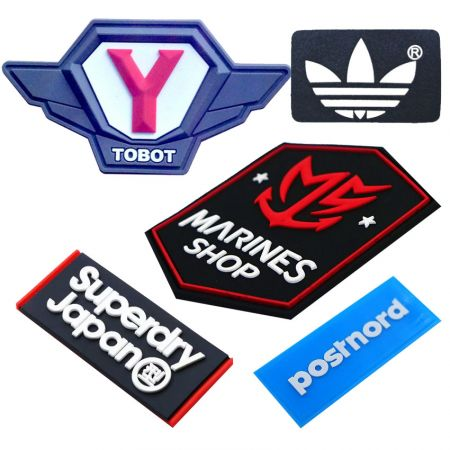 Soft PVC Patches & Rubber Labels - Custom Sportswear Soft PVC Labels