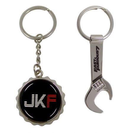 Open Design - Bottle Opener Keyrings - Customized zinc alloy beer bottle opener with keyrings