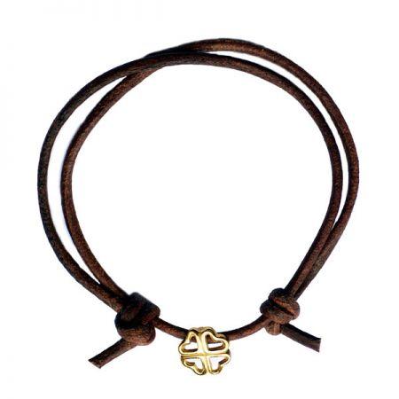 Cord Bracelet with Charms - Bracelet Charms