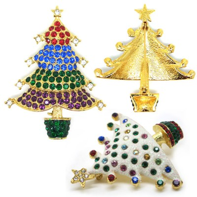 Costume Jewelry Brooches - Open Design Costume Brooches