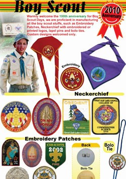 ITEMS FOR BOY SCOUT