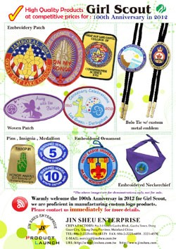 Custom products for Girl Scouts