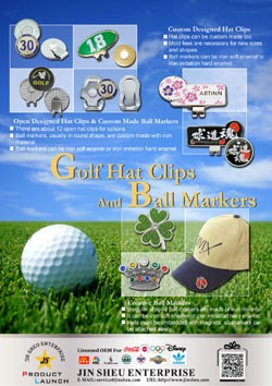 Golf Hat Clips and Ball Markers - golf hat clips and ball markers