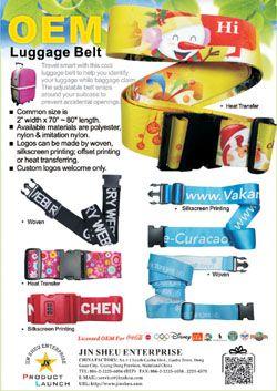 Gepäckgürtel - Gepäckgurte nach Maß