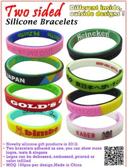 Two Sided Silicone Bracelets