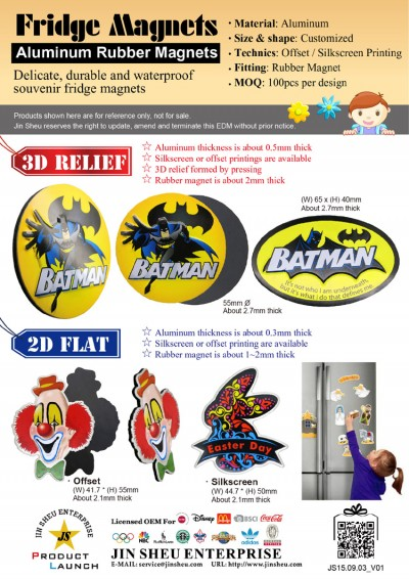 Fridge Magnets – Aluminum Rubber Magnets - Aluminum Printed Fridge Magnets