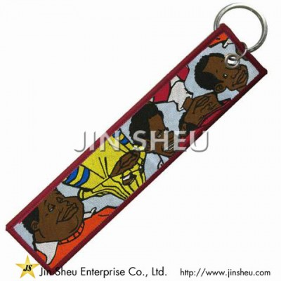 Custom Made Woven Key Tags - Custom Made Woven Key Tags