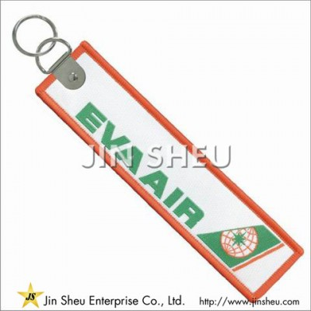 Custom Woven Flight Tag Keychain - Custom Woven Flight Tag Keychain