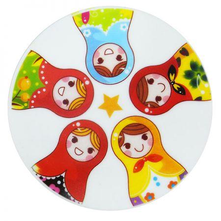 CMYK Printed Silicone Coaster - Silicone Drink Coaster with Custom Printed Logo
