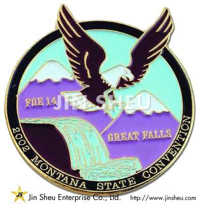 Custom Die Struck Soft Enamel badge Pins