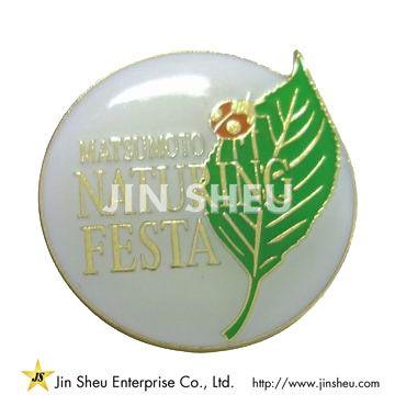Die Struck Brass Pin Badge
