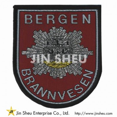 Silver Thread Woven Patch - Customized Woven Patches