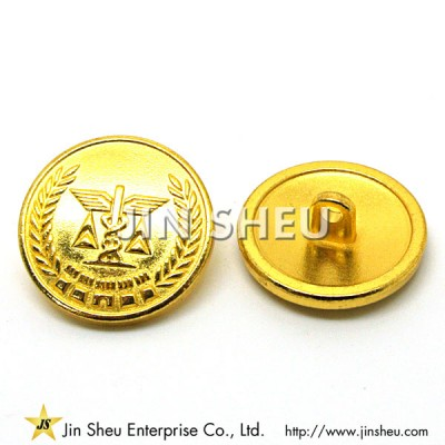 Gold Plated Military Buttons - Gold Plated Military Buttons
