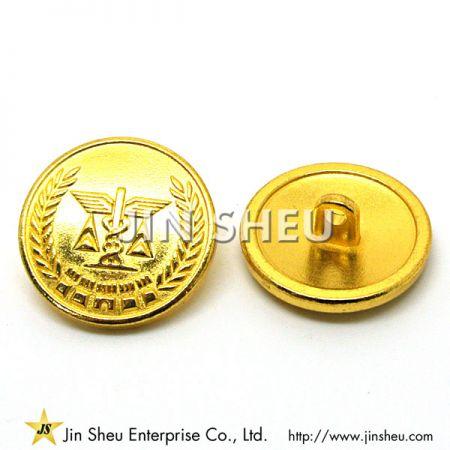 金メッキのミリタリーボタン - 金メッキのミリタリーボタン