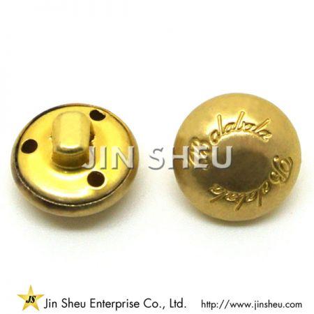 金属製の服のボタン - 金属製の服のボタン