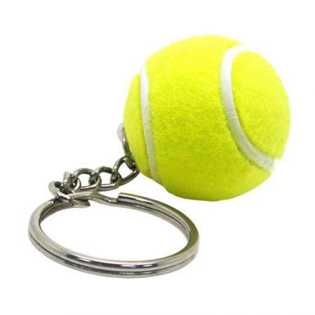 Ball Key Chain with Tennis Ball - Tennis Keychains