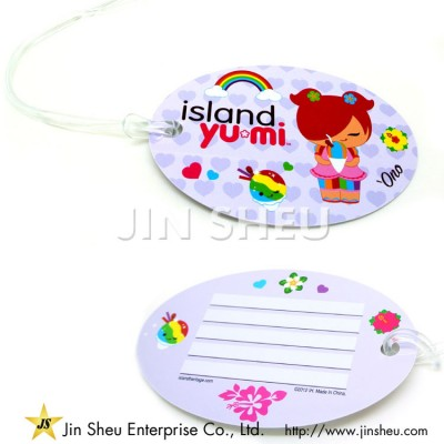 Round Plastic Luggage Tags - Round Plastic Luggage Tags