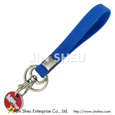 Silicone Keyring with Trolley Coin - Silicone Keyring with Trolley Coin