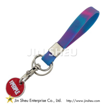 Silicone Trolley Token Keyrings - Silicone Trolley Token Keyrings