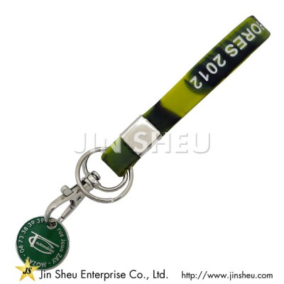 Silicone Camouflage Keychain - Silicone Camouflage Keychain