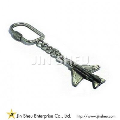 Pewter Military Aircraft KeyChain