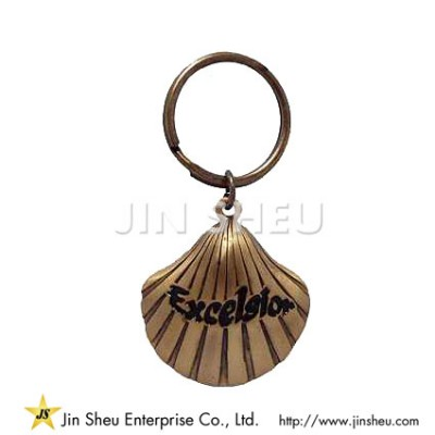 Pewter Shell Keychain