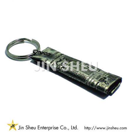 Custom Design Vintage Pewter Keychain