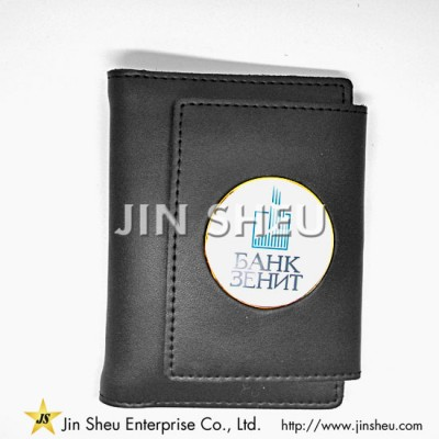 Leather Badge Wallets - Leather Badge Cases