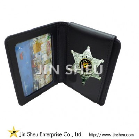 Leather Badge Wallets - Leather Badge Wallets
