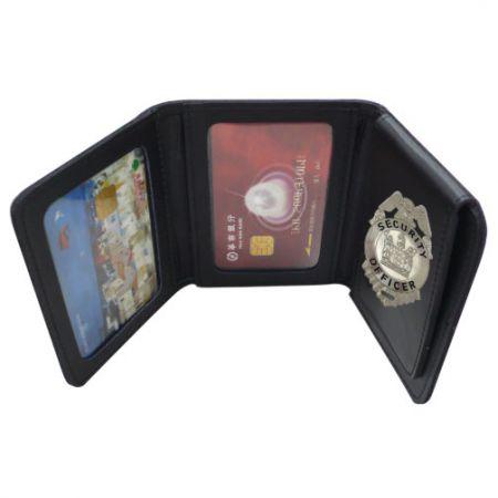 Tri-Fold Badge Wallet - police badge wallet