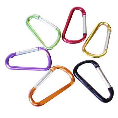 D-Shaped Carabiner Hooks - D-Shaped Aluminum Carabiner Hooks